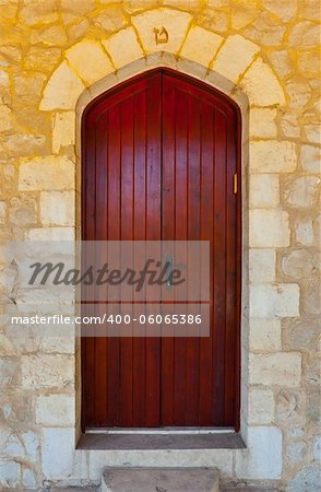 Close-up Image of  Wooden Ancient Israel Door Stock Photo - Budget Royalty-Free, Image code: 400-06065386