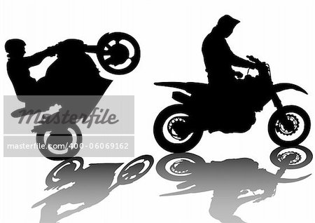 Vector drawing a extreme road motorcycle Stock Photo - Budget Royalty-Free, Image code: 400-06069162