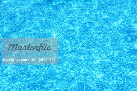 Aqua blue water background in swimming pool Stock Photo - Budget Royalty-Free, Image code: 400-06074793