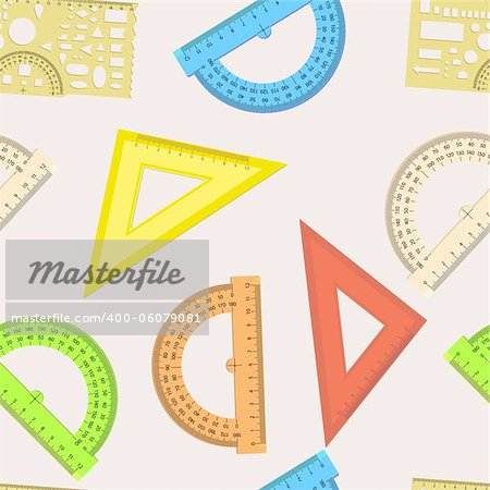 Seamless wallpaper the ruler and protractor line of the triangle vector background Stock Photo - Budget Royalty-Free, Image code: 400-06079081