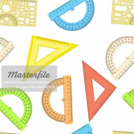Seamless wallpaper the ruler and protractor line of the triangle vector background Stock Photo - Budget Royalty-Free, Image code: 400-06082128