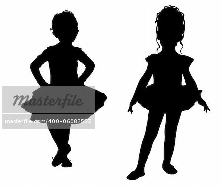 Small ballerinas Stock Photo - Budget Royalty-Free, Image code: 400-06082563