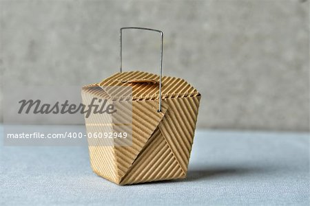 "Image of a generic ""to go"" box made of recycled brown cardboard Stock Photo - Budget Royalty-Free, Image code: 400-06092949"