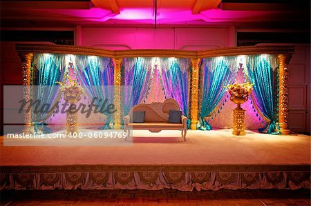 Image of a very colorful Indian Wedding Mandap Stock Photo - Budget Royalty-Free, Image code: 400-06094769