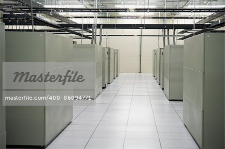 Image of the interior of a data storage facility Stock Photo - Budget Royalty-Free, Image code: 400-06094771