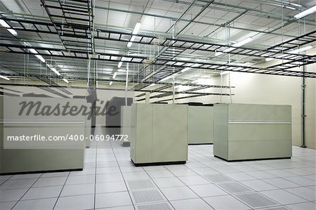 Interior view of a data center with equipment Stock Photo - Budget Royalty-Free, Image code: 400-06094772