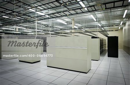 Interior view of a data center with equipment Stock Photo - Budget Royalty-Free, Image code: 400-06094773