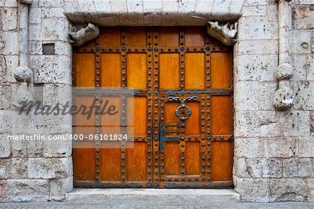 Detail of  Portal of the Gothic Church in Burgos, Spain Stock Photo - Budget Royalty-Free, Image code: 400-06101824
