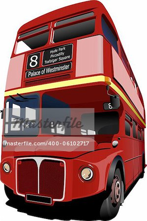 London double Decker  red bus. Vector illustration Stock Photo - Budget Royalty-Free, Image code: 400-06102717