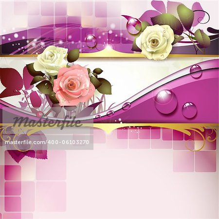 Springtime background with roses Stock Photo - Budget Royalty-Free, Image code: 400-06103270