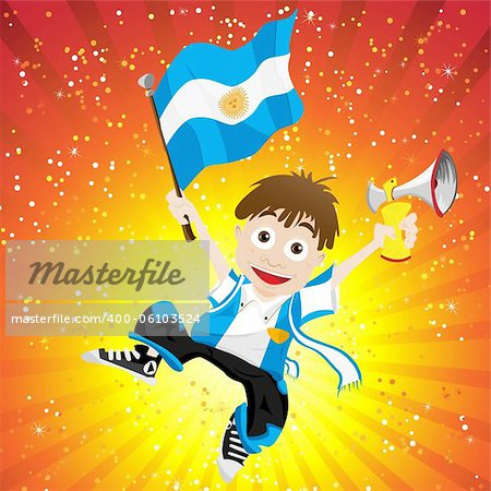Vector - Argentina Sport Fan with Flag and Horn Stock Photo - Budget Royalty-Free, Image code: 400-06103524