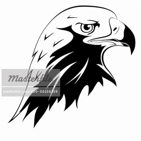 Eagle Head Silhouette Vector