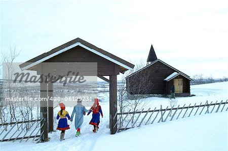 Arctic Church Stock Photo - Budget Royalty-Free, Image code: 400-06129231