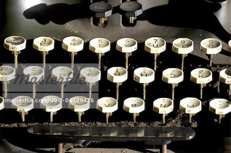 Old typewriter keys Stock Photo - Budget Royalty-Free, Image code: 400-06129426