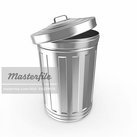 Steel trash can Stock Photo - Budget Royalty-Free, Image code: 400-06139575