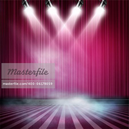 Background in show. Interior shined with a projector Stock Photo - Budget Royalty-Free, Image code: 400-06178059