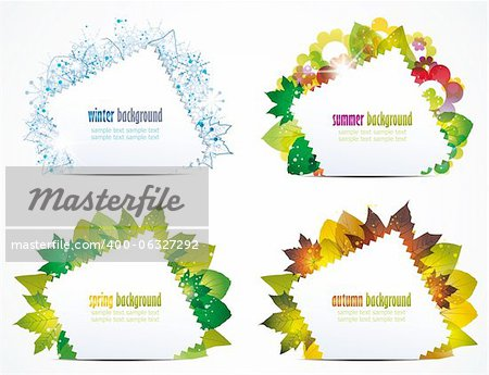 vector illustration of a seasons of the year Stock Photo - Budget Royalty-Free, Image code: 400-06327292