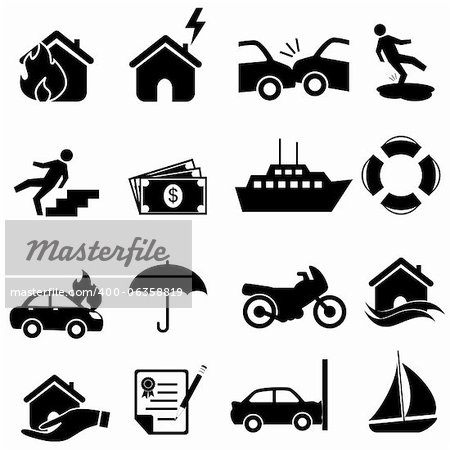 icon set in black Stock Photo - Budget Royalty-Free, Image code: 400-06358819