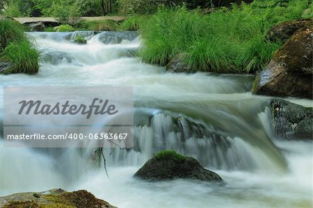 Close up of the Umia River forming  rapids, Galicia, Spain Stock Photo - Budget Royalty-Free, Image code: 400-06363667