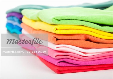 Pile of colorful clothes Stock Photo - Budget Royalty-Free, Image code: 400-06366759