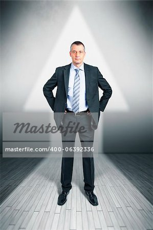 An image of a manager in a arrow shape light upwards Stock Photo - Budget Royalty-Free, Image code: 400-06392336
