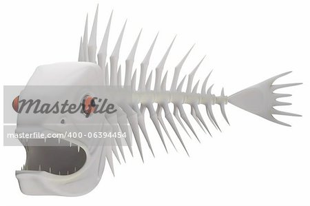 Bones of a skeleton of a fish in 3d Stock Photo - Budget Royalty-Free, Image code: 400-06394454