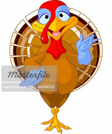 Illustration of a cartoon turkey Stock Photo - Budget Royalty-Free, Image code: 400-06396315