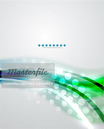 Abstract vector background. Wave design with sample text Stock Photo - Budget Royalty-Free, Image code: 400-06414000