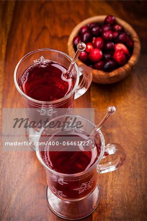 Hot drink with cranberries on white Stock Photo - Budget Royalty-Free, Image code: 400-06461722