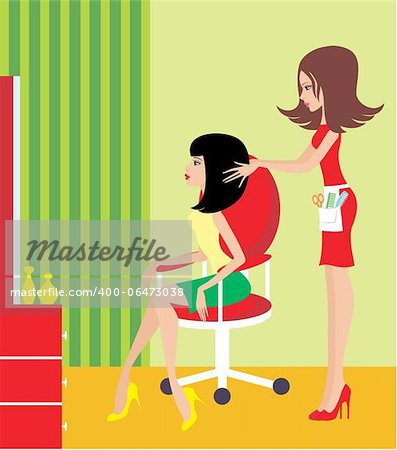 Woman in a beauty salon. Stock Photo - Budget Royalty-Free, Image code: 400-06473038