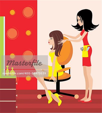 Woman in a beauty salon. Stock Photo - Budget Royalty-Free, Image code: 400-06473039