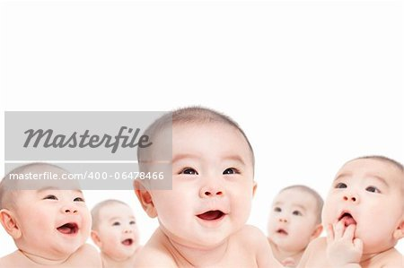 all baby are looking up Stock Photo - Budget Royalty-Free, Image code: 400-06478466