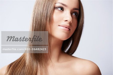 Young beautiful girl in the studio Stock Photo - Budget Royalty-Free, Image code: 400-06482423