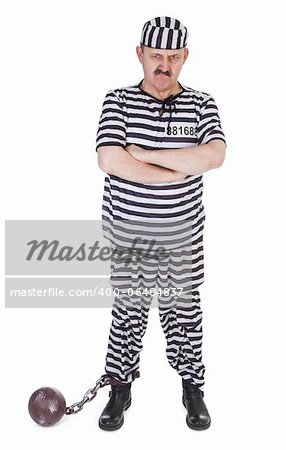angry prisoner on white background Stock Photo - Budget Royalty-Free, Image code: 400-06484837