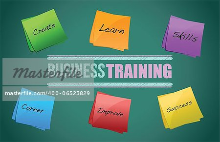 business training colorful diagram graphic illustration design Stock Photo - Budget Royalty-Free, Image code: 400-06523829