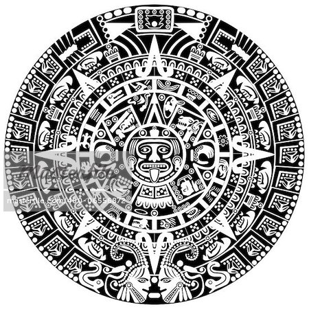 Vector of Mayan calendar on white background Stock Photo - Budget Royalty-Free, Image code: 400-06556872