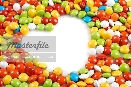White heart shape in mm candies for valentines day Stock Photo - Budget Royalty-Free, Image code: 400-06560574