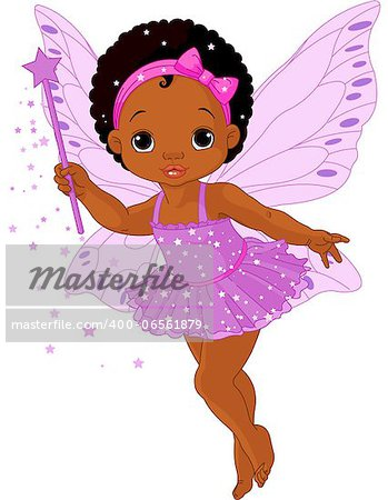 Illustration of Cute little baby fairy in fly Stock Photo - Budget Royalty-Free, Image code: 400-06561879