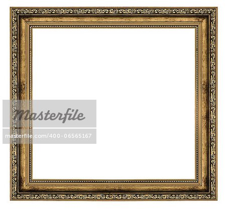 golden frame isolated on white background Stock Photo - Budget Royalty-Free, Image code: 400-06565167
