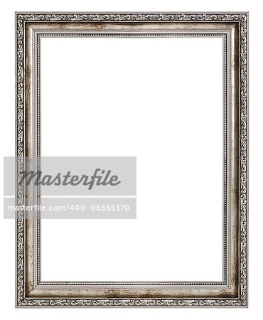 old wooden frame isolated on white background Stock Photo - Budget Royalty-Free, Image code: 400-06565170