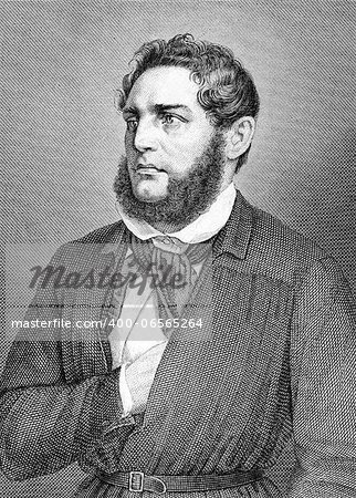 Franz Heinrich Zitz (1803-1877) on engraving from 1859. German attorney. Engraved by unknown artist and published in Meyers Konversations-Lexikon, Germany,1859. Stock Photo - Budget Royalty-Free, Image code: 400-06565264