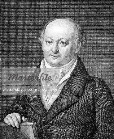 Franz Ludwig von Hornthal (1760-1833) on engraving from 1859. First Mayor and Freeman of Bamberg. Engraved by unknown artist and published in Meyers Konversations-Lexikon, Germany,1859. Stock Photo - Budget Royalty-Free, Image code: 400-06565269