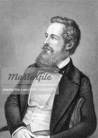 Franz Schuselka (1811-1886) on engraving from 1859. Politician of the Austrian Empire. Engraved by Metzeroth and published in Meyers Konversations-Lexikon, Germany,1859. Stock Photo - Budget Royalty-Free, Image code: 400-06565271