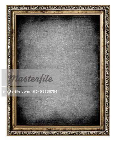 golden frame with empty canvas isolated on white background Stock Photo - Budget Royalty-Free, Image code: 400-06568754