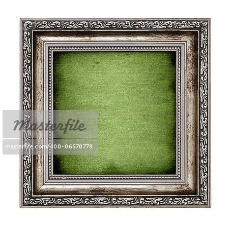 frame with green canvas isolated on white background Stock Photo - Budget Royalty-Free, Image code: 400-06570779