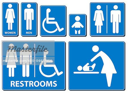 Vector illustration toilette sign Stock Photo - Budget Royalty-Free, Image code: 400-06627956