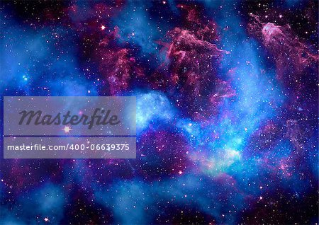 Star field in space, a nebulae and a gas congestion Stock Photo - Budget Royalty-Free, Image code: 400-06639375