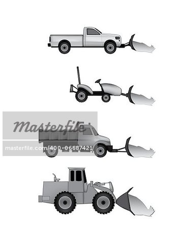 snow plow icons Stock Photo - Budget Royalty-Free, Image code: 400-06687421