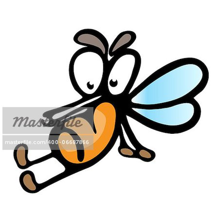 Cartoon mosquito.  Illustration on white background for design Stock Photo - Budget Royalty-Free, Image code: 400-06687866