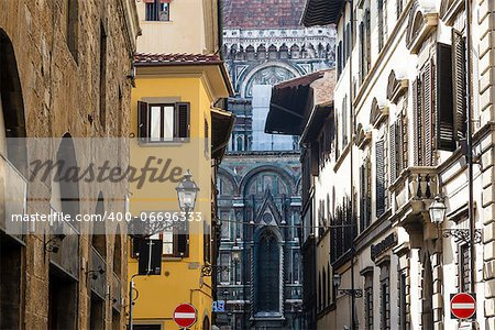 Histroical Houses Facades in Florence, Italy Stock Photo - Budget Royalty-Free, Image code: 400-06696333